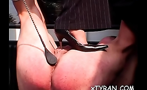 Dude fastened up and his butt destroyed in rough femdom fetish