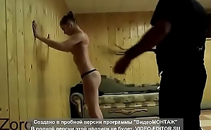 Submissive girl spanked in front of public