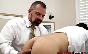 Rimmed mormon gets railed