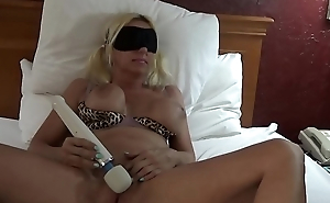 Saucy time hitachi Blindfolded Blonde Banditt screaming orgasm shaking and moaning hitachi vibrator brings intense exploding orgasm huge tits hard nipples. MORE orgasms @manyvids.com search blonde banditt