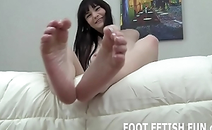 I will show off my feet while you stroke your cock