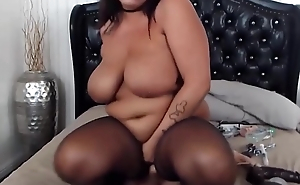 Amazing curvy Taylor with huge boobs fucks phat pussy