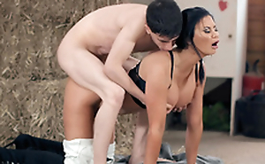 Rich British Milf Jasmine Jae gets humped in the ass by her stable boy Jordi