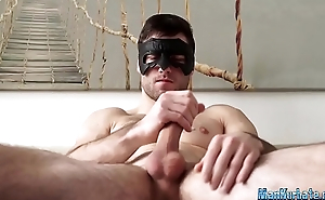 Muscular dude loves masturbating solo