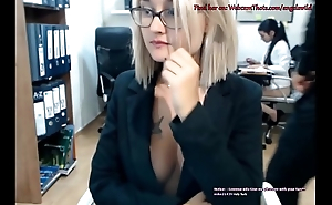 Blonde Cam Thot Caught By Boss Masturbating Live In Represent of Coworker